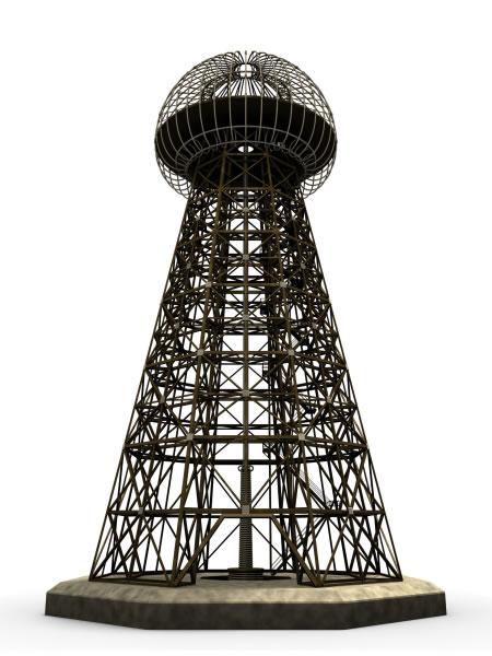 Nikola Tesla's Wardenclyffe Tower | Illustration by Leo Blanchette